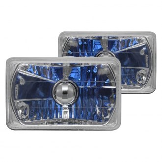"RedLine LumTronix® - 4x6"" Rectangular Chrome Elite Headlights"