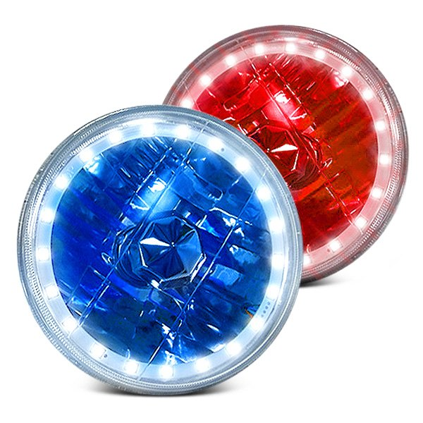 RedLine LumTronix® - Round Diamond Cut Headlights with Color Changing Halos