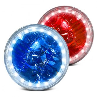 RedLine LumTronix® - Round Diamond Cut Color Halo Headlights