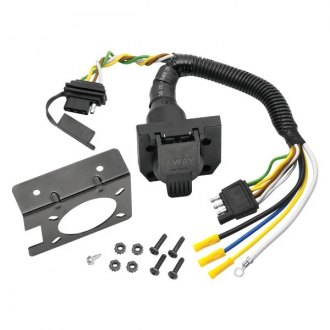 Reese Towpower® - 7-Way Flat Pin Connector/4-Flat Combo Adapter Harness with Mounting Bracket and Hardware