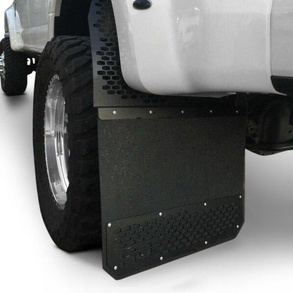 Dually Mud Flaps >> Rek Gen Dm1002 Rek Mesh Dually Black Mud Flaps With Black Plate And Black Rg Logo