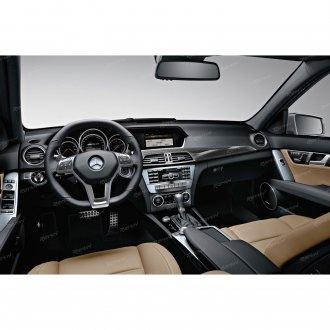 Dashboard Cover for Mercedes-Benz C Class 2008-2010 Original Car Custom Dash Mat Anti Reflective Heat Resistant Dash Carpet Leather Black