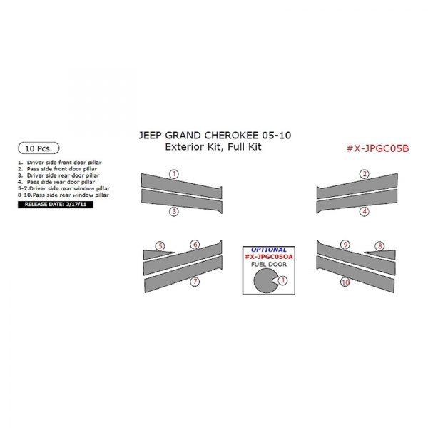 Remin® - Exterior Kit Full Dash Kit (10 Pcs)