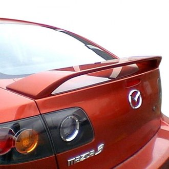 2005 mazda 3 spoilers custom factory lip wing spoilers. Black Bedroom Furniture Sets. Home Design Ideas