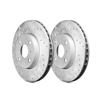 Remmen Brakes® - 130 Series Drilled and Slotted Vented 1-Piece Front Brake Rotors