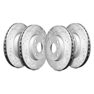 Remmen Brakes® - 130 Series Drilled and Slotted Brake Rotors