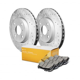 Remmen Brakes® - Imola Series Drilled and Slotted Front Brake Kit