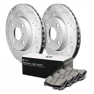 Remmen Brakes® - Rockies Series Drilled and Slotted Front Brake Kit