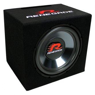 "Renegade® - 12"" RXV Series Single Sealed Passive 600W Subwoofer Enclosure"