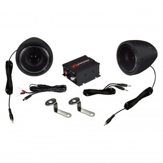 "Renegade® - 3-1/2"" Black Motorcycle/ATV 100W Sound System"
