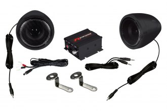 Renegade® - Motorcycle/Scooter 100W Sound System with Black Housing Speakers