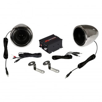 "Renegade® - 3-1/2"" Chrome Motorcycle/ATV 100W Sound System"