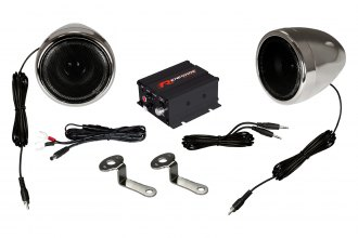 Renegade® - Motorcycle/Scooter 100WSound System with Chrome Housing Speakers