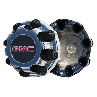 Replace® - Remanufactured Chrome Wheel Center Cap With Black and Red GMC Logo