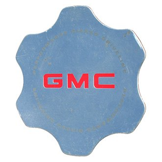 Replace® - Remanufactured Polished Wheel Center Cap With Red GMC Letters