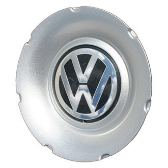 Replace® - Remanufactured Silver/Black Wheel Center Cap With Chrome Logo