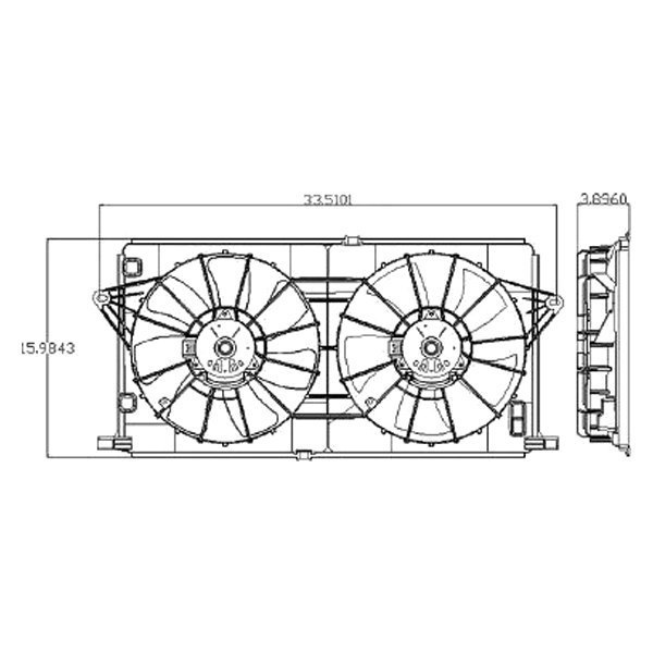 Cooling Fan Assembly New Cadillac DTS Buick Lucerne 2006-2011 GM3115189 21999691