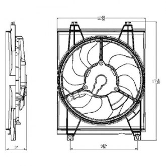 Replace® - A/C Condenser Fan Assembly