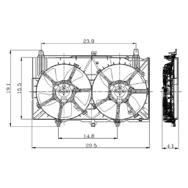 replace u00ae   sedan 2005 radiator fan assembly