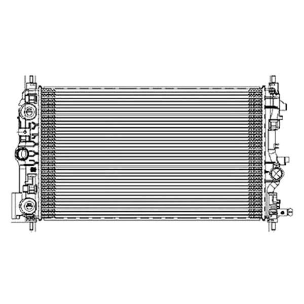 Replace chevy cruze radiator