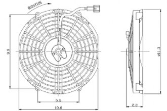 Replace® - Condenser Fan Assembly (Aux)