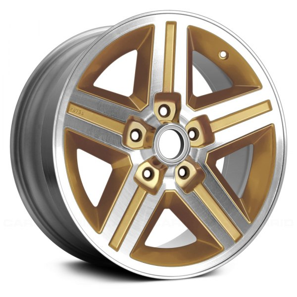 "Replace® - 16"" Remanufactured 5 Slots Gold Factory Alloy Wheel"