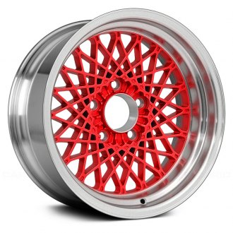 "Replace® - 16"" Remanufactured Diamond Design Red with Dimples At Flange Factory Alloy Wheel"