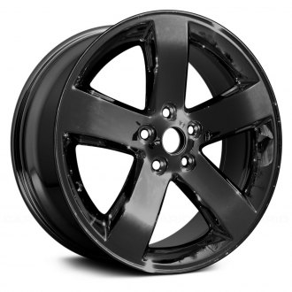 replace 18 remanufactured 5 spokes dark pvd chrome factory alloy wheel - 2013 Dodge Charger Black Rims