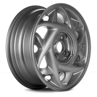 "Replace® - 14"" Remanufactured Geometric All Painted Silver Factory Alloy Wheel"