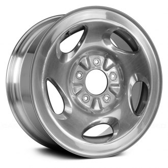 "Replace® - 16"" Remanufactured 5 Swirl Oval Spokes Bright Polished Factory Alloy Wheel"