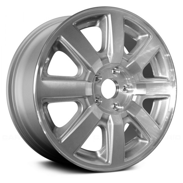 "Replace® - 17"" Remanufactured 8 Spokes Machined with Silver Vents Factory Alloy Wheel"