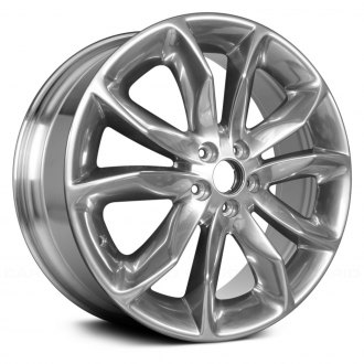 replace 20 replica 5 double spokes full polished factory alloy wheel