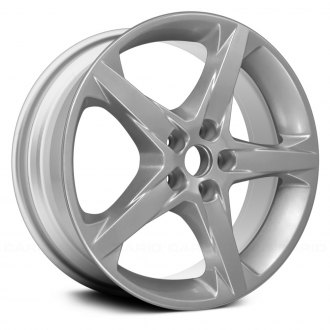 "Replace® - 18"" Remanufactured 5 Spokes Bright Silver Full Face Factory Alloy Wheel"