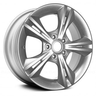 "Replace® - 16"" Remanufactured 5 Double Spokes Sparkle Silver Metallic Full Face Factory Alloy Wheel"