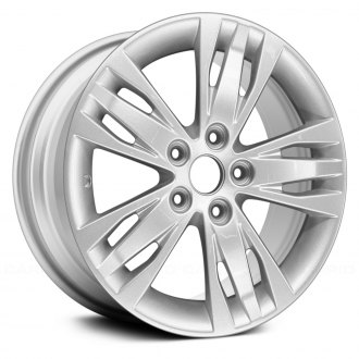 "Replace® - 16"" Remanufactured 5 Triple Spokes Bright Silver Metallic Full Face Factory Alloy Wheel"