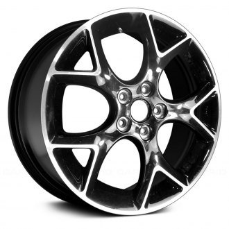 "Replace® - 17"" Remanufactured 5 Split Spokes Machined and Black Factory Alloy Wheel"