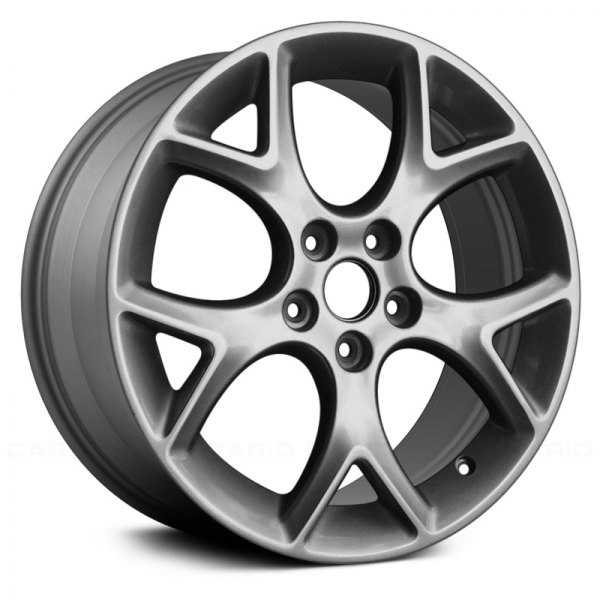 focus ford factory split alloy wheel spoke replace charcoal metallic wheels painted remanufactured spokes 17x7 carid