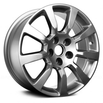 "Replace® - 18"" Remanufactured 9 Spokes Hyper Silver Full Face Factory Alloy Wheel"