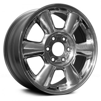 "Replace® - 17"" Replica 6 Round Spokes Bright Polished Factory Alloy Wheel"
