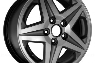 "Replace® - 17"" Remanufactured 5 Spokes Black Factory Alloy Wheel"