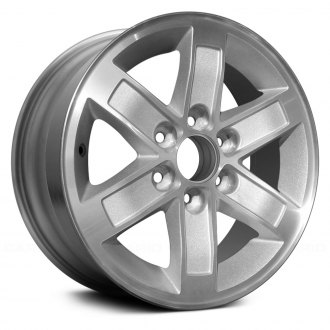 "Replace® - 17"" Replica 6 Spokes Machined with Silver Pockets Factory Alloy Wheel"