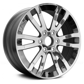 "Replace® - 18"" Remanufactured 12 Ramped Spokes Chrome Factory Alloy Wheel"