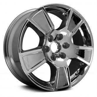 "Replace® - 20"" Remanufactured 5 Spokes Raised on Edges Chrome Factory Alloy Wheel"