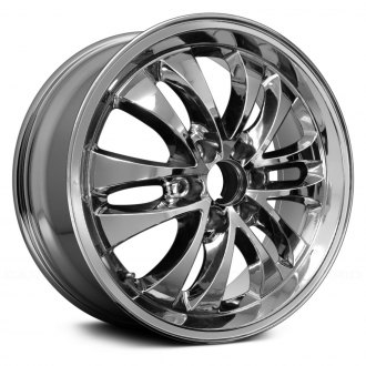 "Replace® - 20"" Remanufactured Rear 12 Spokes Chrome Factory Alloy Wheel"