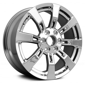 "Replace® - 22"" Remanufactured Rear 8 Spokes Chrome Factory Alloy Wheel"