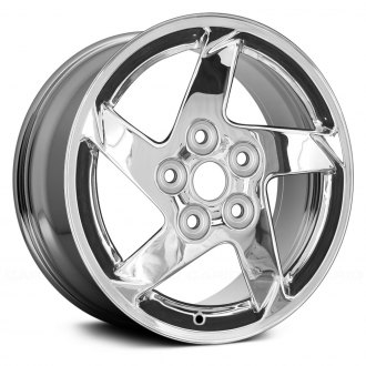 "Replace® - 16"" Replica 5 Spokes Chrome Factory Alloy Wheel"