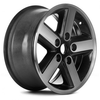 "Replace® - 17"" Remanufactured 5 Spokes Machined and Black Factory Alloy Wheel"