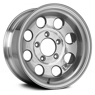 "Replace® - 15"" Remanufactured 8 Round Holes Bright Polished Factory Alloy Wheel"