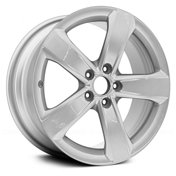 "Replace® - 18"" Remanufactured 5 Spokes Bright Silver Metallic Face Factory Alloy Wheel"