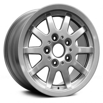 "Replace® - 15"" Remanufactured 10 Flat Spokes Bright Sparkle Silver Factory Alloy Wheel"